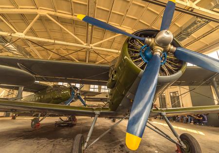 engine: Ancient piston engine aircraft, China Editorial