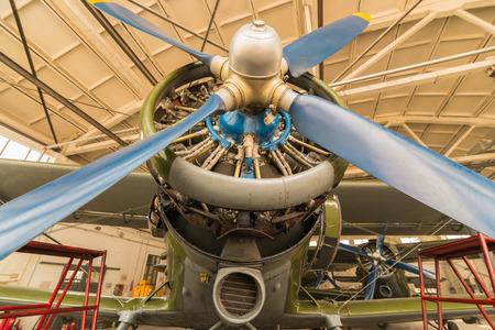 Ancient piston engine aircraft, China Stock Photo