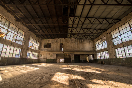 industrial building: Old abandoned rubber factory