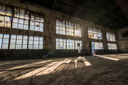 edificio industrial: Antigua fábrica de caucho abandonada Foto de archivo