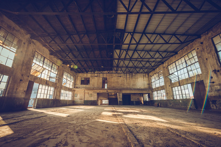 Old rubber factory interior view in China Editorial