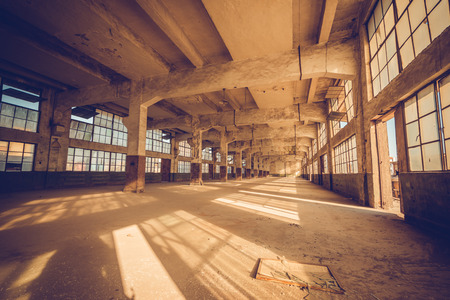 light hearted: Old factory, rubber factory, China