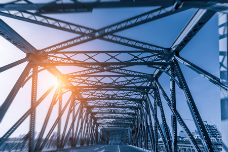 A steel bridge in Shanghai Stock Photo - 88535690