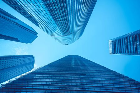skyscrapers: Modern skyscrapers in Shanghai, China