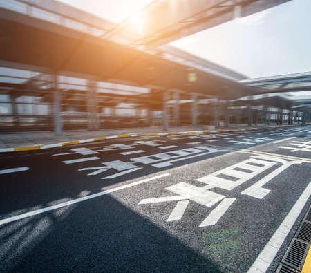 fast lane: Empty highway, airport fast lane