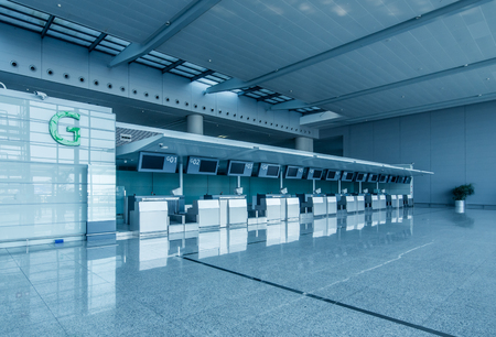 Check-in counters in the airport