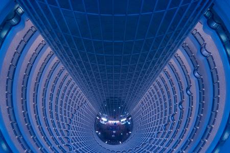 The internal view of Shanghai Jinmao Tower