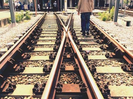 ballast: Trains is ok Stock Photo