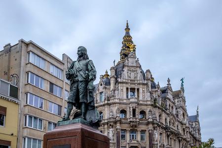 departmentstore: Bronze statue of David Teniers the Younger in Antwerp, Belgium