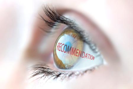 Recommandation reflet dans les yeux. Banque d'images - 53458771