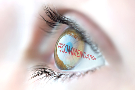 recommendation: Recommendation reflection in eye.