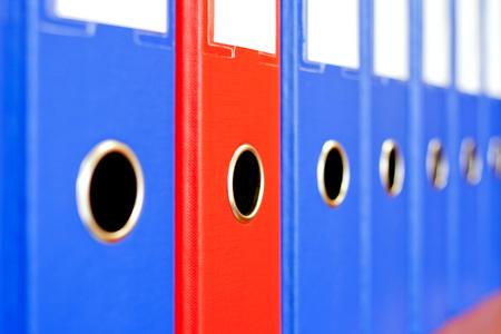bureaucratic: The image of file folders.
