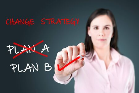 adapting: Business plan strategy changing.