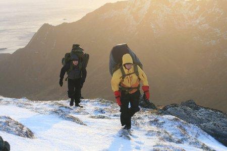 lofoten: climbing mountain, Lofoten Norway