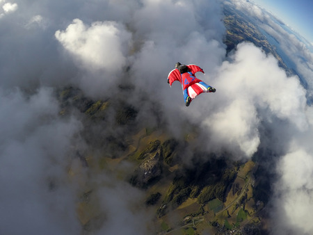Wingsuit skydiving