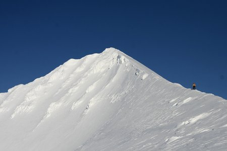 snow climbing: person climbing snow, Svalbard Norway