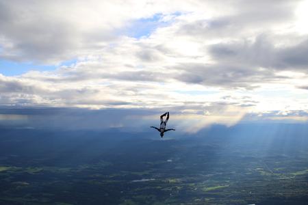 Skydiving in Norway Stock Photo