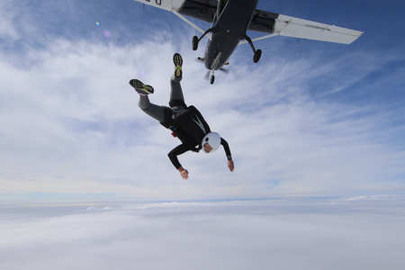 Skydiving in Norway Banque d'images