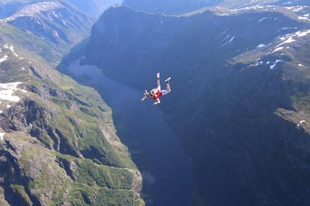 Skydiving in Norway Stok Fotoğraf