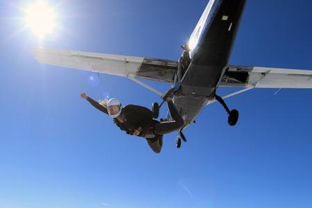 Skydiving in Norway Archivio Fotografico
