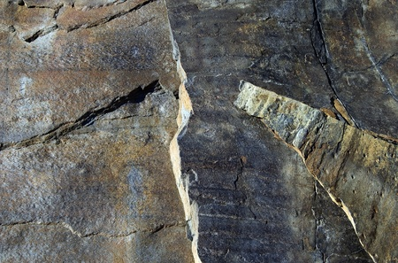 igneous: Igneous rock with textures and formations in a rural scene
