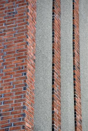 formalism: Walls and orange bricks in a urban scene