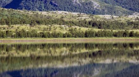 Reflections in coastal landscape Stock Photo - 15570772