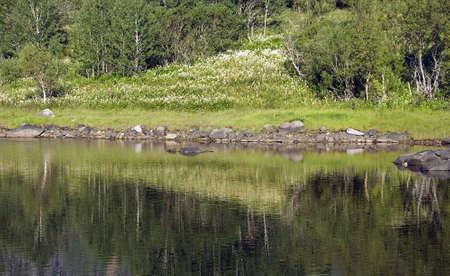 landforms: Reflections and landforms Stock Photo