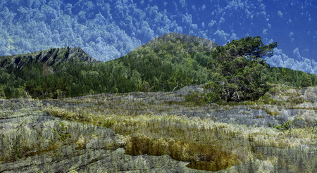 photomontage: Abstract mountain photomontage