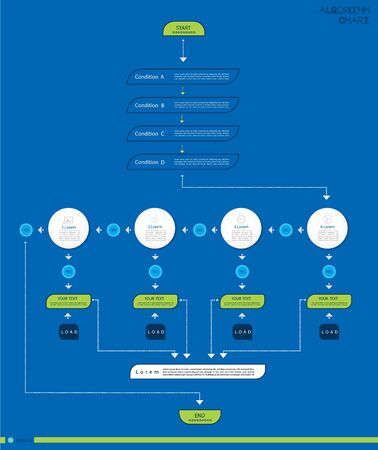 Set Infographic Business data visualization.Process chart,Algorithm flowchart of graph, diagram with steps, options or processes.Vector template for presentation,infographic Creative illustration.