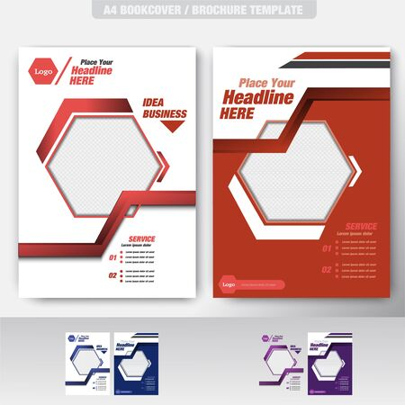 Business Brochure. Flyer Design. Leaflets a4 Template. Cover Book and Magazine. Иллюстрация