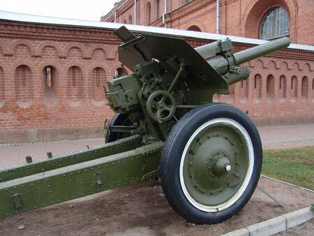artillery shell: Gun  Foto de archivo