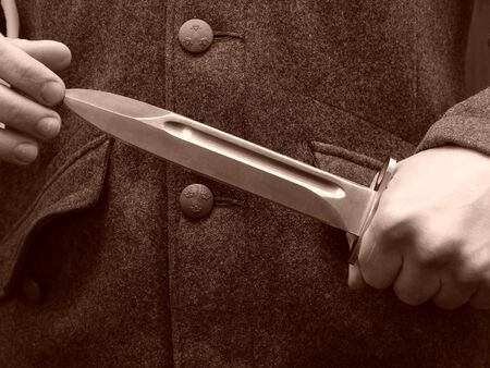 baionetta: Soldato con baionetta