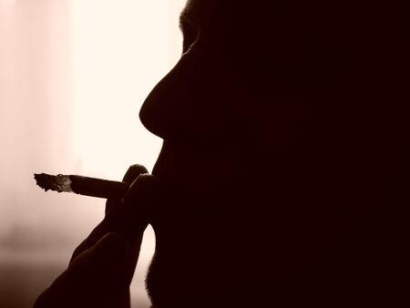 The smoker Stock Photo