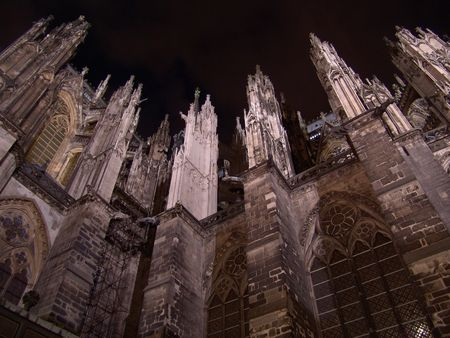 Night Cologne cathedral, Germany