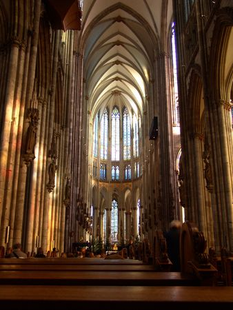 The Cologne cathedral, stained-glass window, Germany
