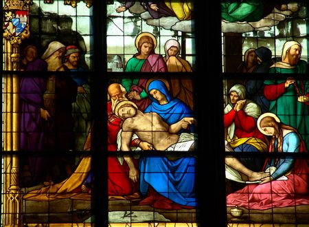 The Cologne cathedral, stained-glass window, Germany                  photo