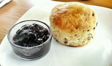 scone: Scone and jam Stock Photo