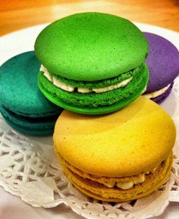 colorful: Colorful macarons Stock Photo