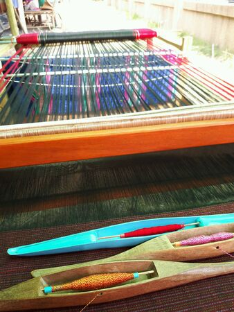 loom: Thai silk loom Stock Photo