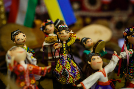bazaar: Traditional oriental doll in Bukhara Bazaar, Uzbekistan