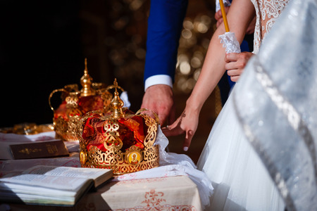 Crown for Wedding in Orthodox church gold