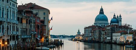 Sunrise in Venice, Smooth water in the canal