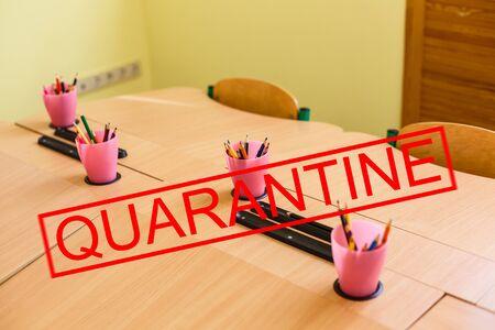 Quarantine. school coronavirus Viruses Epidemics medicine.