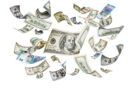 Background of dollar bills, dollars Stock Photo
