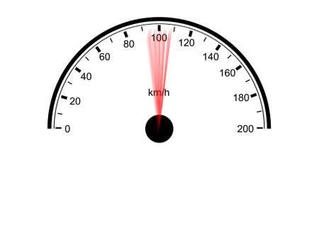 A Speedometer illustration design on a white background