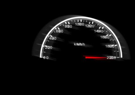 A Speedometer illustration design on a black background