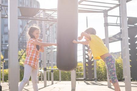 Kids having fun on the playground