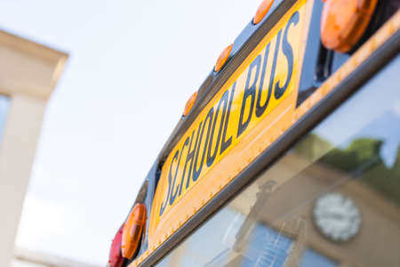 school bus lettering, school bus sign.