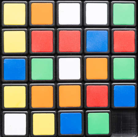 Image of a multicolored squares background, block pattern , square format